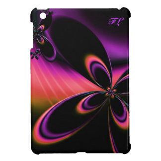 モノグラムの電気サイケデリックなフラクタルの花の箱 iPad MINIカバー