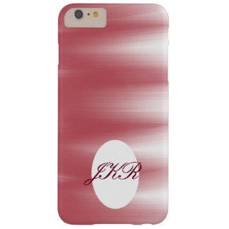 モノグラムの電話箱のピンクの抽象芸術のアートワーク BARELY THERE iPhone 6 PLUS ケース