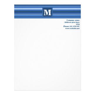 モノグラムの青い縞 レターヘッド