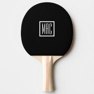 モノグラムの黒い卓球ラケット 卓球ラケット