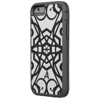 モノグラムの黒く及び白く堅いXtremeのiPhone 6カバー Tough Xtreme iPhone 6 ケース