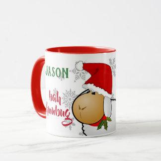 モノグラムのBahのばかばかしいクリスマスのマグ マグカップ