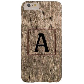 モノグラムのBarnwoodのiPhone 6のプラスの場合 Barely There iPhone 6 Plus ケース