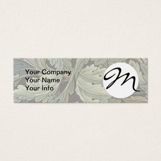 モノグラムのMorrisのAcanthusの花模様の壁紙のデザイン スキニー名刺
