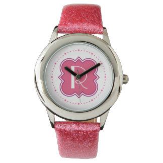 モノグラムを持つクローバー 腕時計