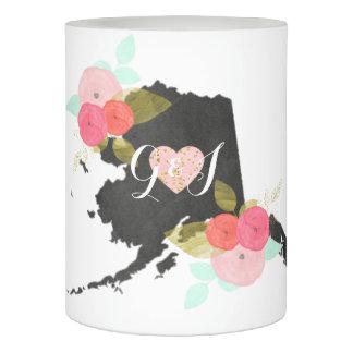 モノグラムを結婚するアラスカの黒板の州花 LEDキャンドル