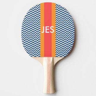 モノグラム海軍シェブロンの卓球ラケット 卓球ラケット