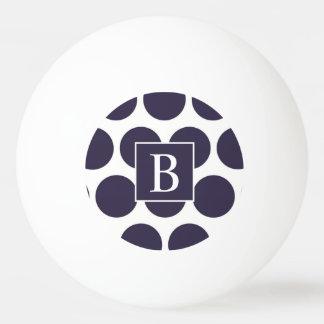 モノグラム海軍水玉模様のピンポン球 卓球ボール