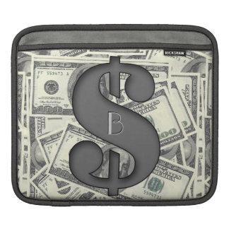 モノグラム百本のドル札の人力車の袖 iPadスリーブ