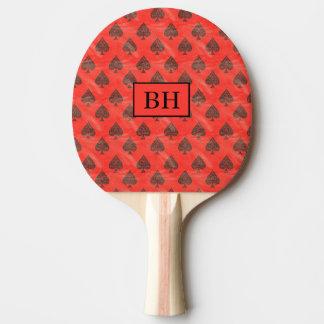 モノグラム赤い踏鋤卓球ラケット 卓球ラケット