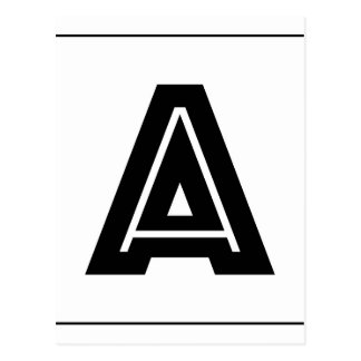モノグラム|のシンプル、ミニマルなモダンに文字を入れて下さい ポストカード