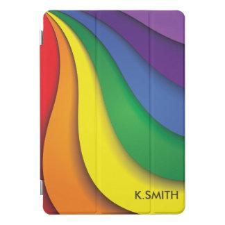 モノグラム。 モダンな虹色 iPad PROカバー