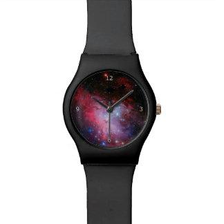 モノグラム、ワシの星雲の宇宙の写真 腕時計