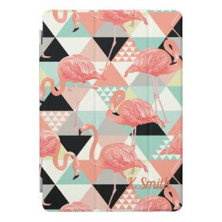 モノグラム。 幾何学的。 かわいいピンクのフラミンゴ iPad PROカバー