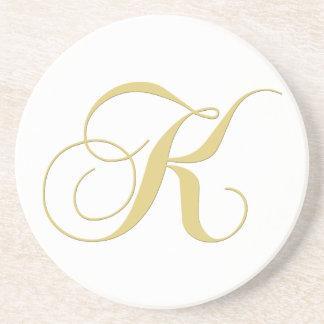 モノグラム|手紙|K|コースター ドリンク用コースター