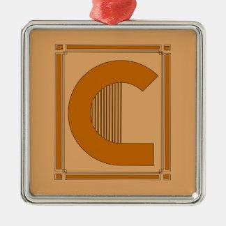 モノグラム、手紙Cとの直線アール・デコ メタルオーナメント