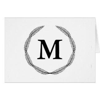 モノグラム/月桂樹のリース カード