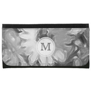 モノグラム: 灰色のデイジーの財布