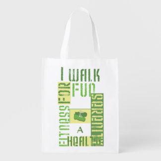 モノグラム-私はおもしろいのために…歩きます エコバッグ