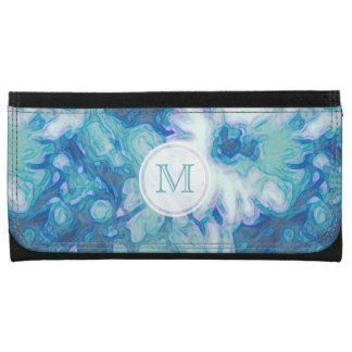 モノグラム: 青デイジーの財布