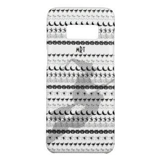 モノグラム: 黒くか白いハロウィンのおもしろいのフォントの芸術 Case-Mate SAMSUNG GALAXY S8ケース