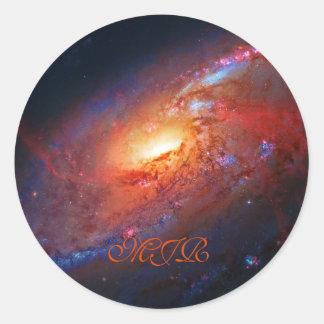 モノグラム、M106渦状銀河、杖Venatici ラウンドシール
