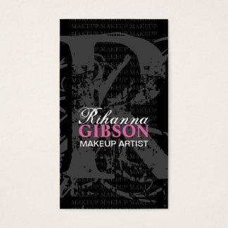 """モノグラム""""R""""の-メーキャップアーティストの名刺 名刺"""
