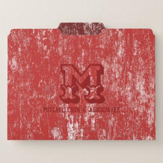 モノグラムDWの赤 ファイルフォルダー
