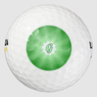 モノグラムGの緑のゴルフ・ボール ゴルフボール