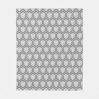 モノラル灰色の蜜蜂の巣パターンフリースブランケット フリースブランケット