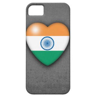 モノラル背景のインドの旗のハート。 iPhone 5 iPhone SE/5/5s ケース