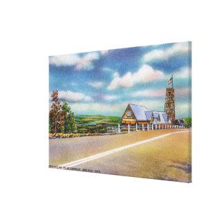 モヒカンの道接近ポイント眺望場面 キャンバスプリント
