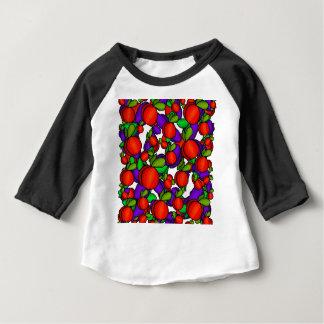 モモおよびプラム ベビーTシャツ