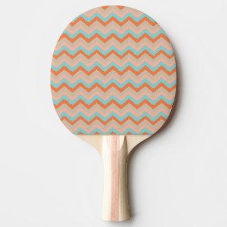 モモおよび青いシェブロンの卓球ラケット 卓球ラケット
