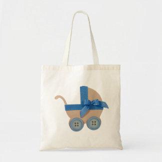 モモおよび青色児キャリッジ トートバッグ