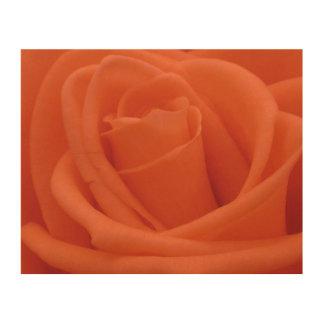 モモのばら色の花のイメージ-木製のキャンバス ウッドウォールアート