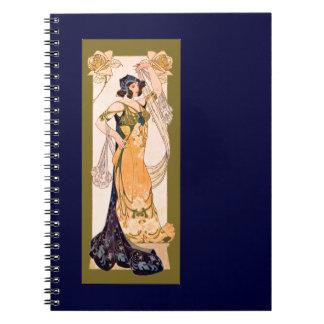 モモのアールヌーボーの女性 ノートブック