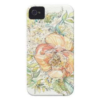 モモのシャクヤクの水彩画のiPhoneの場合 Case-Mate iPhone 4 ケース