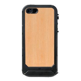 モモのタケ木製の穀物の一見 ウォータープルーフiPhone SE/5/5sケース