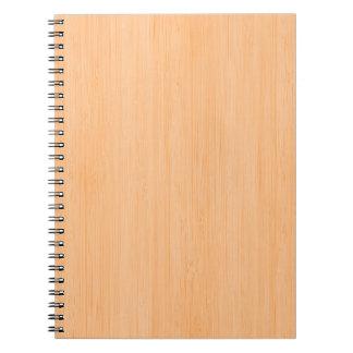 モモのタケ木製の穀物の一見 ノートブック