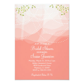 モモのピンクシャワーの招待状 カード