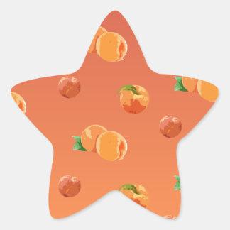 モモのフルーツパターン 星シール