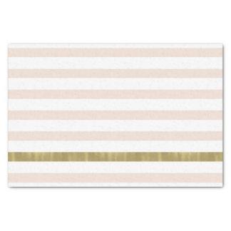 モモのホワイトゴールドは縞で飾ります 薄葉紙