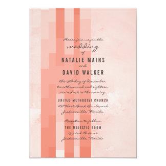 モモのモダンなモザイク結婚式の招待 カード