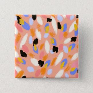 モモの抽象芸術 缶バッジ