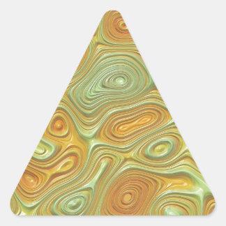 モモの水の渦巻 三角形シール