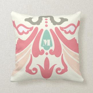 モモの珊瑚のきのこおよびミントのモダンの枕 クッション