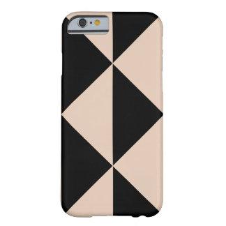 モモの矢 + 可変性の黒い背景色 BARELY THERE iPhone 6 ケース
