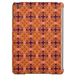 モモの紫色の抽象芸術の新しいモロッコの格子キルト iPad AIRケース
