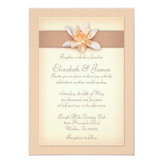 モモの結婚式招待状 12.7 X 17.8 インビテーションカード